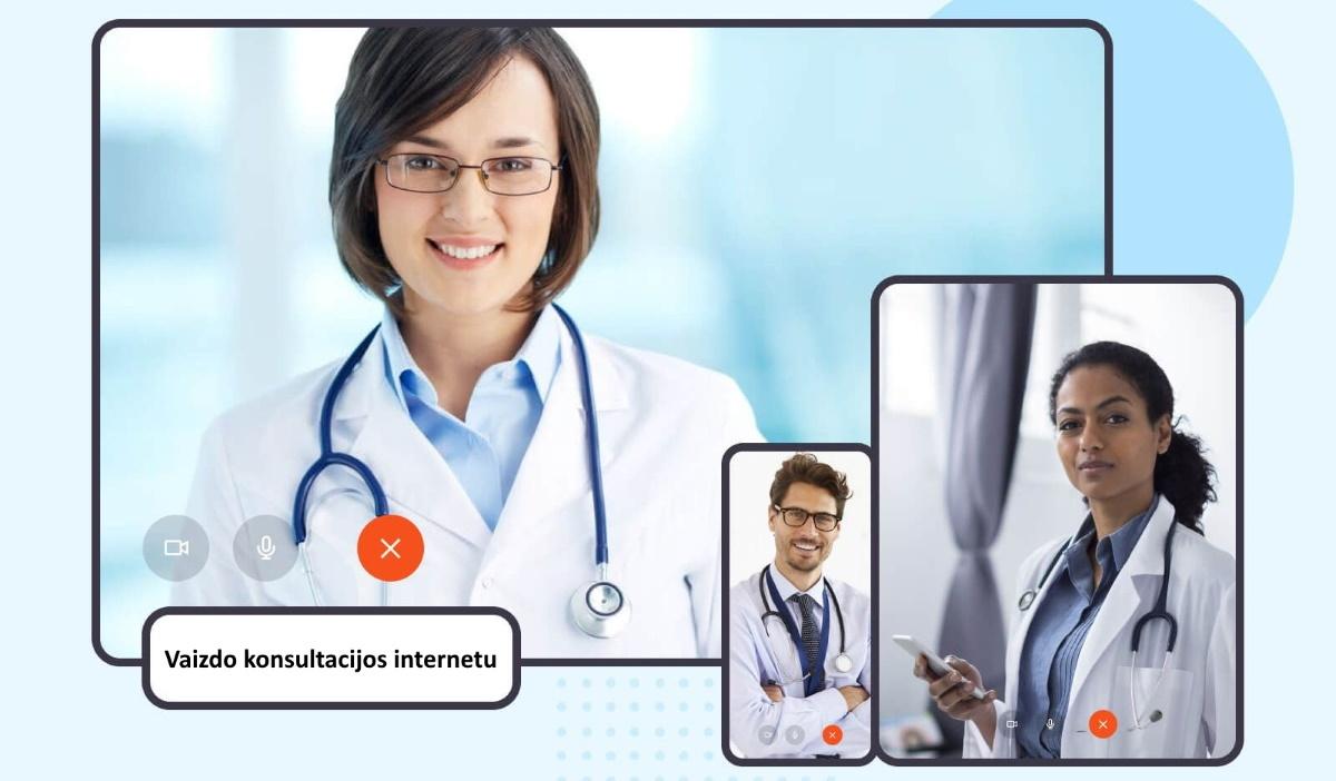 Interneto svetainėje vaizdo konsultacijos internetu