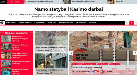 Interneto svetainės kūrimas Namo statyba ir Kasimo darbai tema