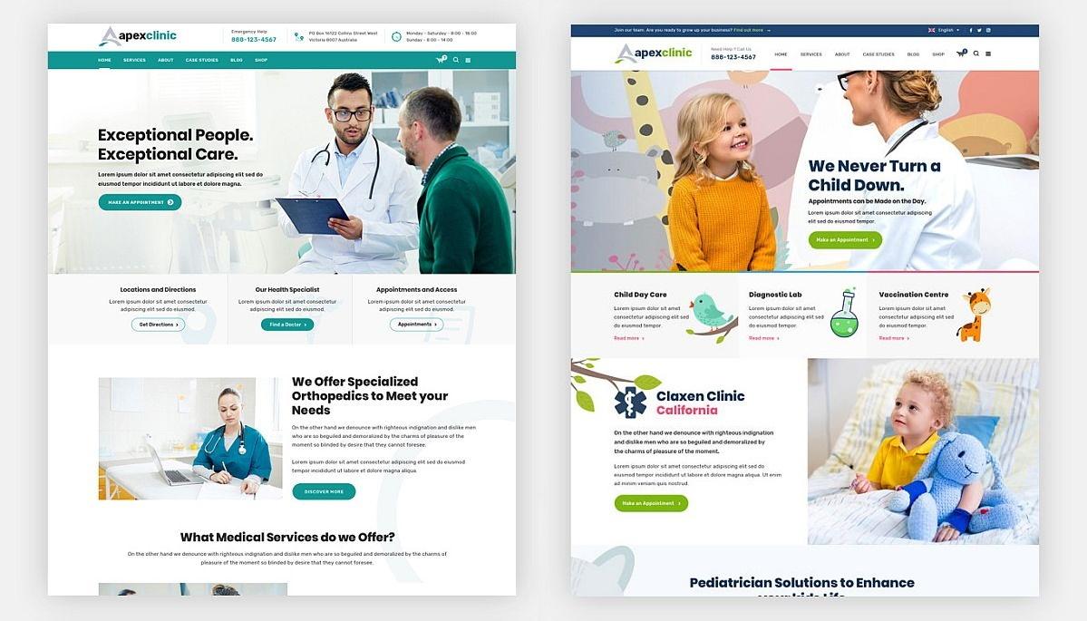 Medicinos interneto svetainės dizainas