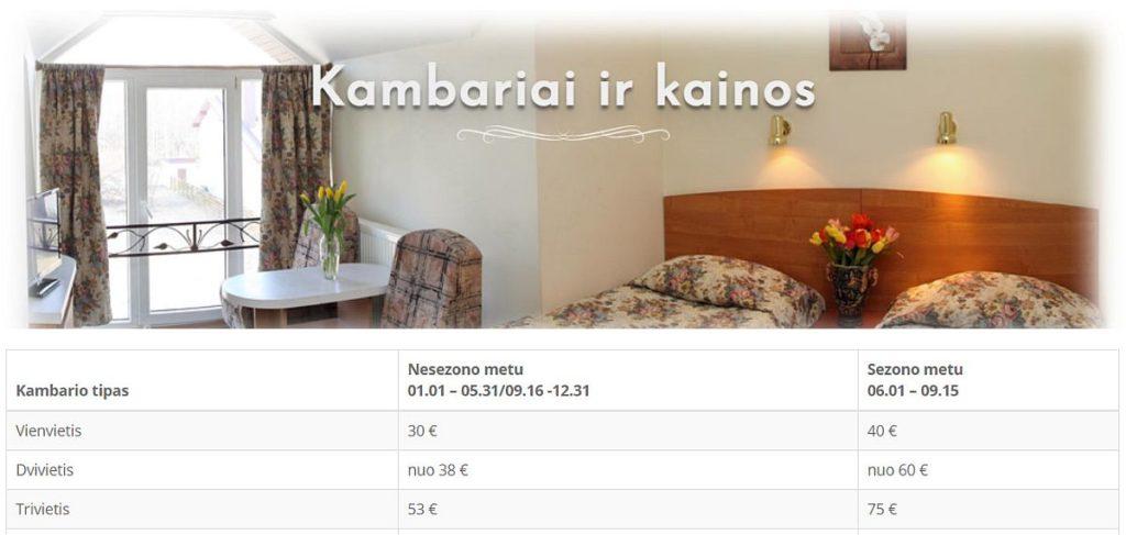 Viešbučio, nakvynės namų interneto svetainės kūrimas