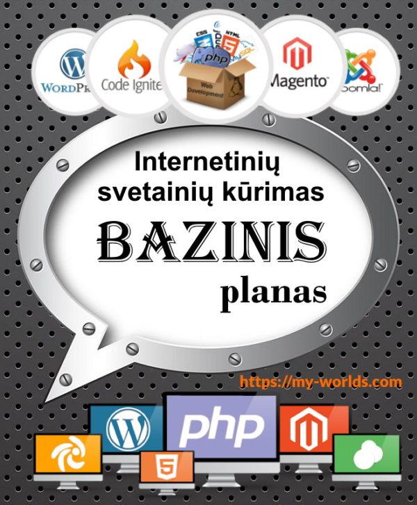 Interneto svetainės kūrimas Bazinis planas