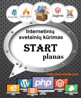 Interneto svetainės kūrimas START planas