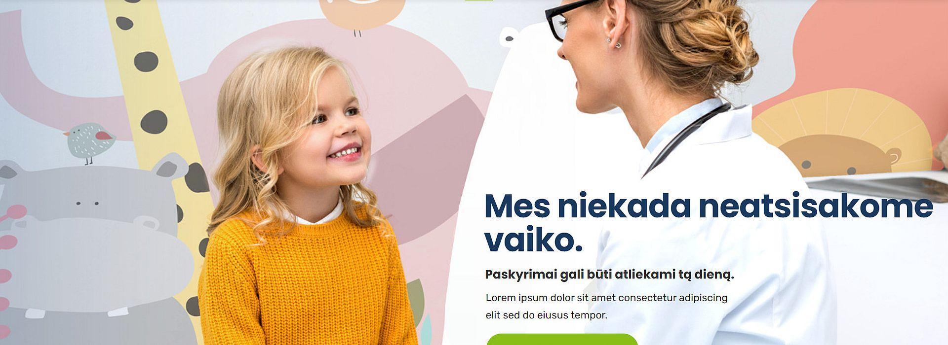 Medicinos įstaigų internetinių svetainių kūrimas slaid
