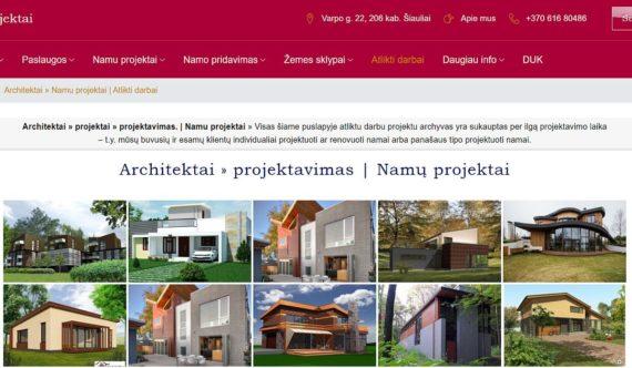 Svetaines kurimas Architektai, projektavimas, namu projektai temomis