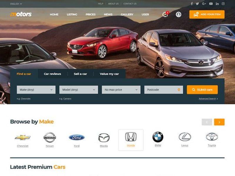 Automobilių pardavėjams Internetinių svetainių kūrimas 1