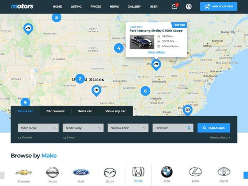 Automobilių pardavėjams Internetinių svetainių kūrimas 2