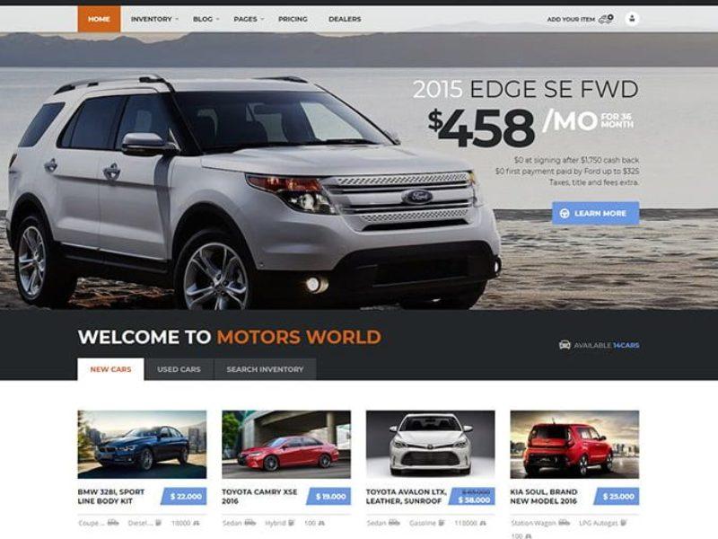 Automobilių pardavėjams Internetinių svetainių kūrimas 3