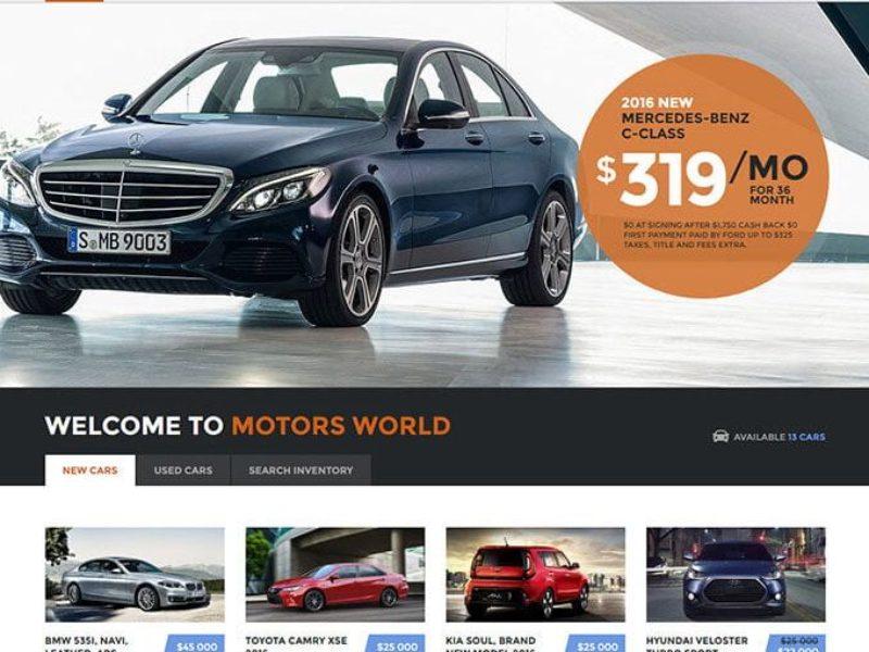 Automobilių pardavėjams Internetinių svetainių kūrimas 4