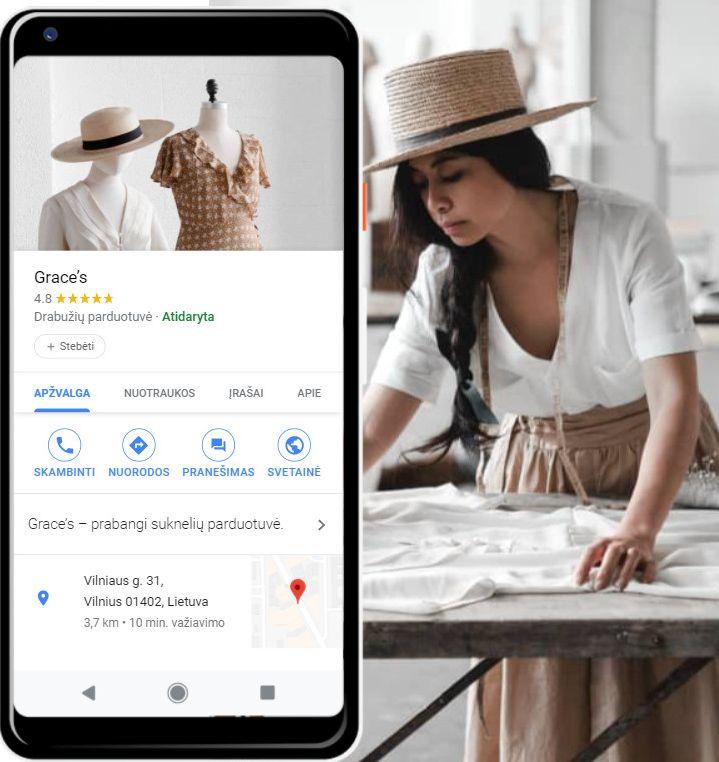 Kaip sukurti Google mano verslas paskira