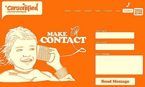 Paprastas kontaktinės formos dizainas