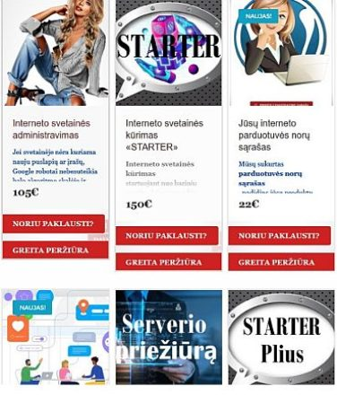 Internetinės parduotuvės Produkto užklausos formos kūrimo paslaugos