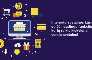 Interneto svetainės kūrimas su 50 funkcijų