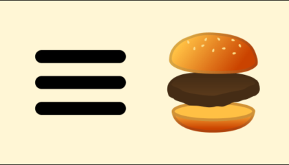 Interneto svetainės Hamburgerio meniu