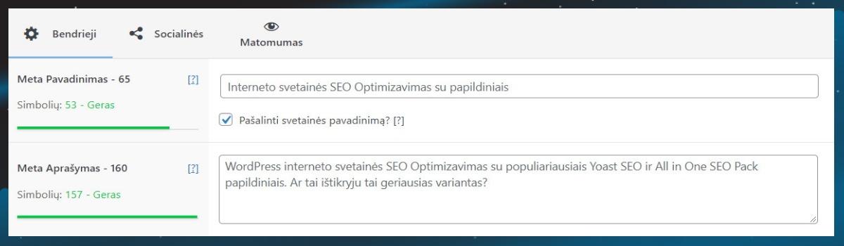 Interneto svetainės seo optimizavimas lentelė