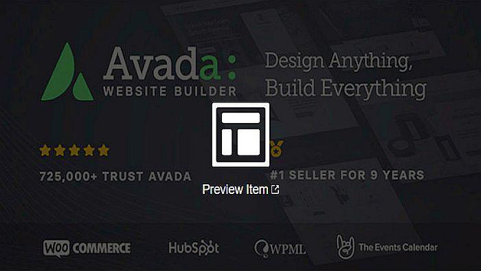 Avada interneto svetaines dizainas